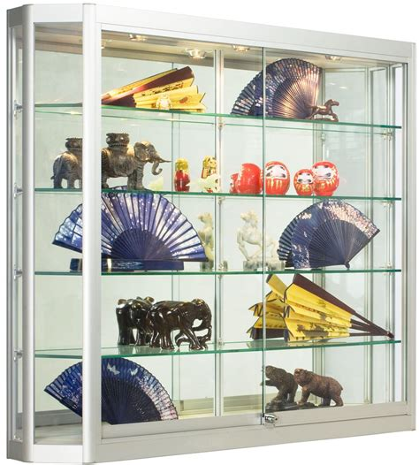 deep wall cabinet display  angled front design