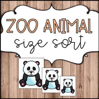 zoo animal size sort    images zoo animals