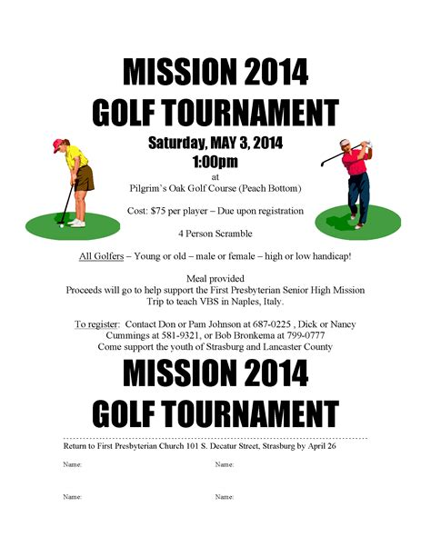 mission golf tournament 2014 presbyterian church
