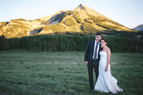 simple rustic mountain wedding  crested butte