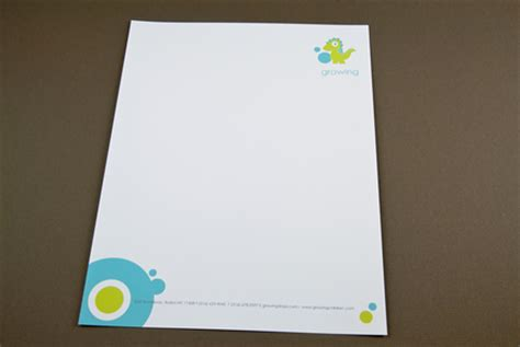 childrens daycare letterhead template inkd