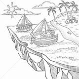 Island Floating Coloring Designlooter Graphic Vector 1300px 03kb 1300 sketch template