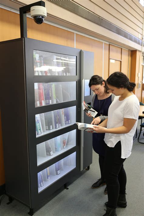 book vending machines dispense mind food  students
