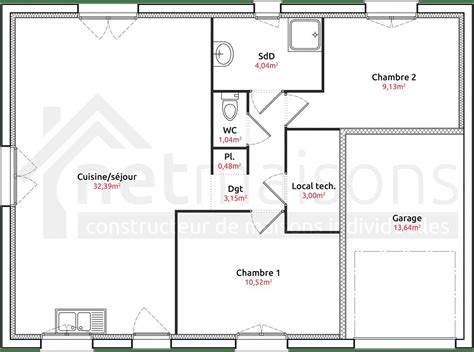 plan maison 6 chambres plan maison plain pied 70m2 12 systembase co