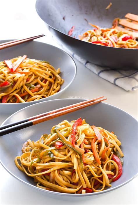 vegan stir fried udon noodles simple vegan blog