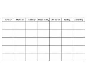 Blank Preschool Calendar Printable