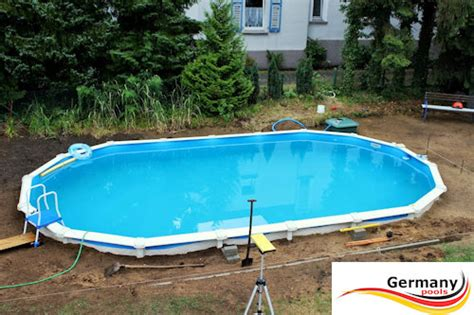 schwimmbecken zum aufstellen schwimmbecken aufbauanleitung swimmingpool montage