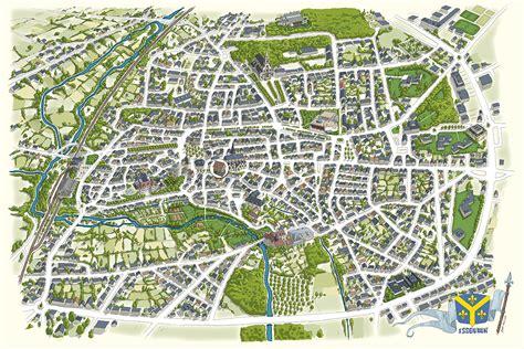 cr 233 ation graphique et joseph illustration plan de ville d issoudun