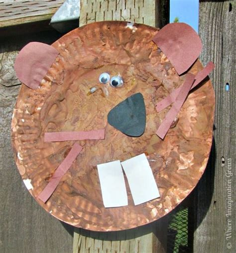 beaver paper plate craft for booking across the usa 214 | 3f7e5c68757d1ec2960af6ec1015f2ba