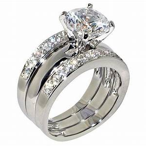 best 25 cubic zirconia engagement rings ideas on With 3 ring wedding set