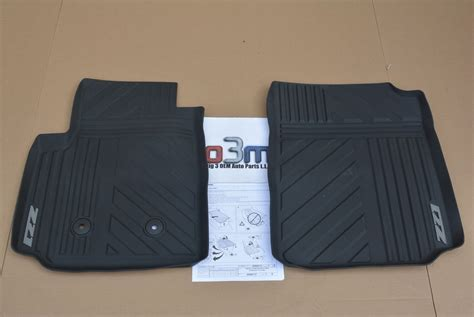 Chevy Colorado Z71 Floor Mats by 2015 Chevrolet Colorado Z71 Front All Weather Black Floor