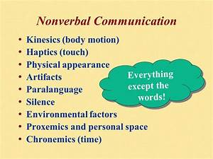 Comparing Verbal and Nonverbal Communication - ppt video ...