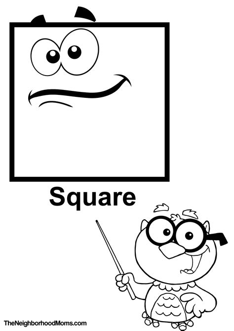 square coloring pages shapes coloring pages printable the neighborhood