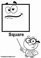 Coloring Square Pages Shapes Rectangle Printable Print Dot Educational sketch template