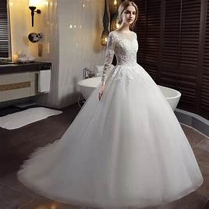 long sleeve lace wedding dresses ball gown backless With wedding dressing gowns