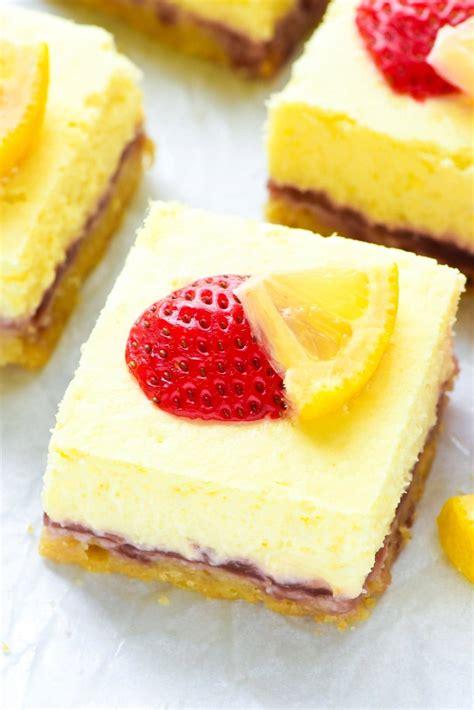 strawberry lemon cheese bars