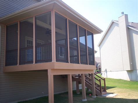 Deck Designs With A Screened Porch  St Louis Decks