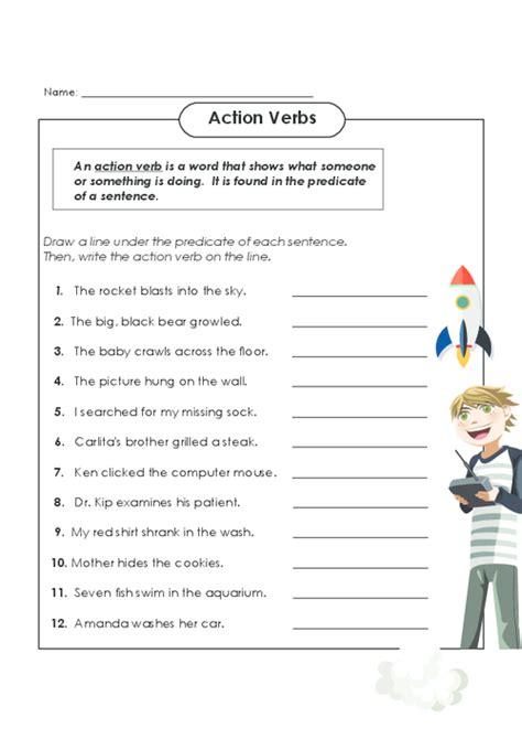 verb worksheets 4th grade verbs linking