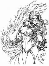 Coloring Fantasy Pages Adult Angel Witchblade Printable Deviantart Warrior Pt1 Tri Commission Angels Recommended Colors Mycoloring sketch template