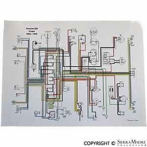 Full Color Wiring Diagram  Porsche 356 Pre