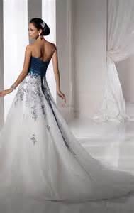 blaues brautkleid blaue und weiße hochzeitskleider hochzeitskleid hochzeitskleider trägerlos