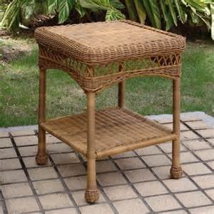 Patio Side Tables At Walmart by All Weather Outdoor Wicker End Table Walmart