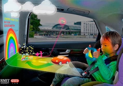 Hologram Tech In Car's Back Seat Stuffconz