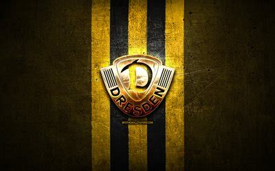 Dynamo dresden ist auf dem weg zurück in die 2. Download wallpapers Dynamo Dresden FC, golden logo ...