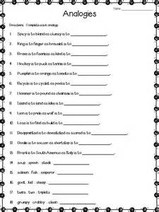 Printable Analogies Worksheets