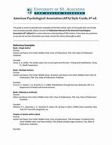 American Psychological Association  Apa  Style Guide  6th Ed