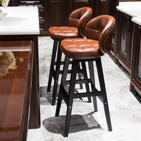 The modernization world brings about the preference for modern furniture, such as stools, cabinets, and tables, etc. Bar chair modern minimalist solid wood bar stool high ...