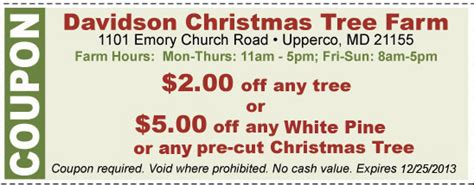 tree farm coupon baltimore tree farm cut your own trees montgomery md