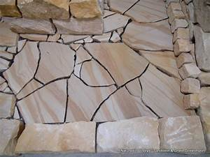 Naturstein Verblender Verlegen : sandstein bruchsteinplatten 3 cm polygonalplatten ~ Lizthompson.info Haus und Dekorationen