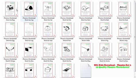 Esl Phonics Worksheets For Kindergarten  Esl Kindergarten Worksheets Pdf Boggle S World 1000