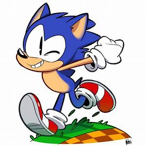 Sonic Running on a Green Hill by AutoCartoons on DeviantArt