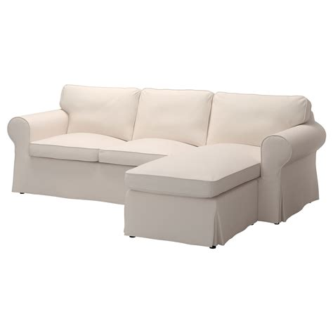 chaise longue 2 places ektorp two seat sofa and chaise longue lofallet beige ikea