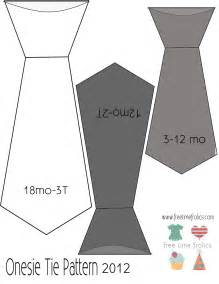 Printable Bow Ties Patterns for Onesie