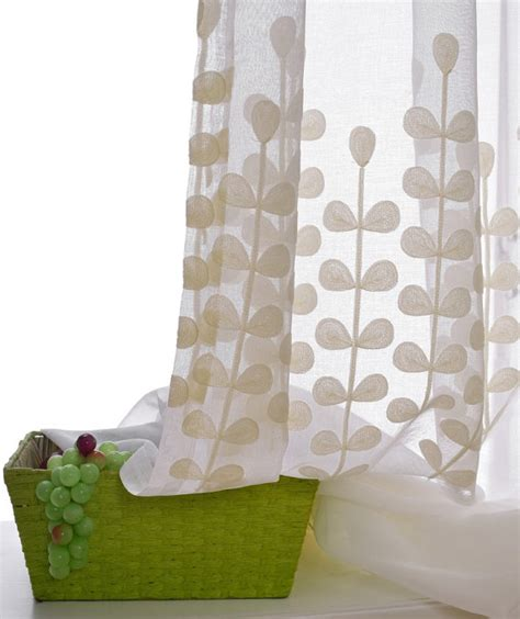 ikea curtains leaf pattern decorate the house with