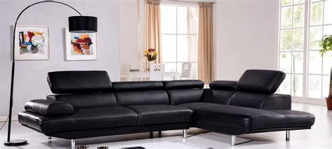 canap 233 d angle en cuir noir 224 prix incroyable
