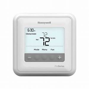 Honeywell Pro 4000 Programmable 1 Heat  1 Cool Thermostat