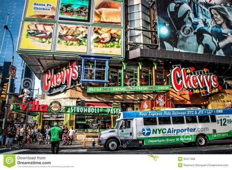 chevys fresh mex  times square  york editorial