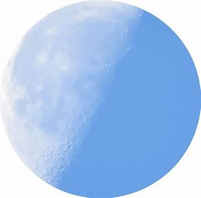 Moon Clipart Half Transparent Clip Background Daylight