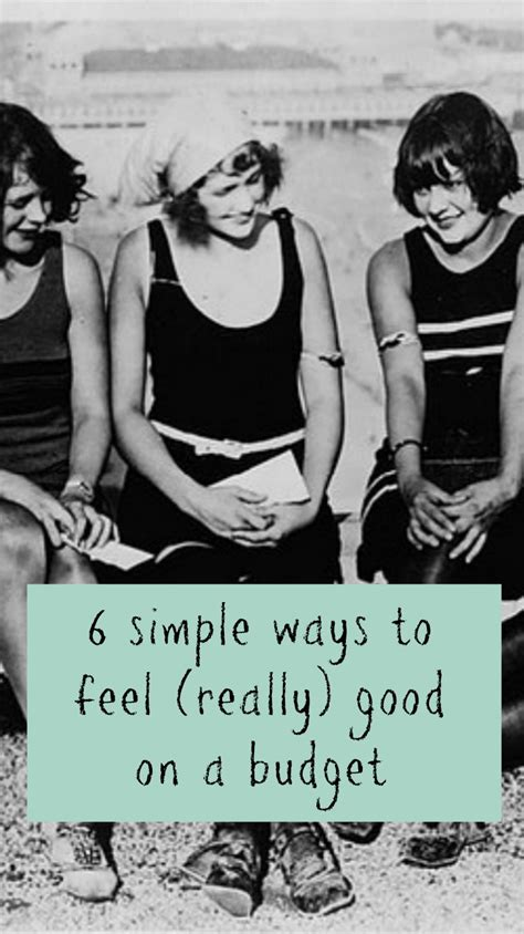 6 Easy Ways To Feel Good On A Budget  Baby Budgeting