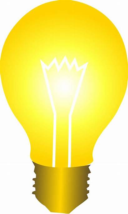 Inspiration Bulb Idea Yellow Come Does
