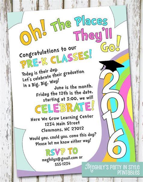 oh the places you ll go preschool graduation by meghilys 892 | 59ed0a949432ce4fc88d993fbf13f1f9 preschool graduation invitation ideas kindergarten graduation invitation