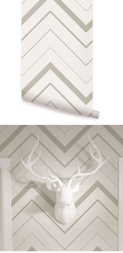 chevron bold gray peel  stick wallpaper