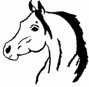 Horse Head Outline Drawings - ClipArt Best