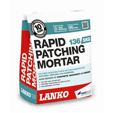 floor patching compound bunnings lanko 5kg 136 rapid patching mortar bunnings warehouse