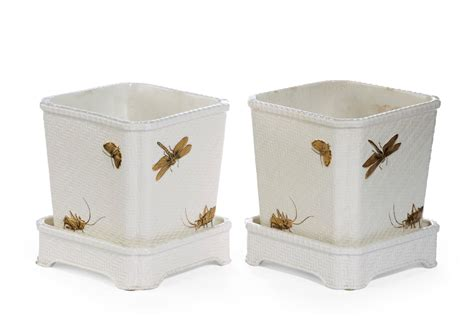 Pair Of Late 19th Century Minton Pottery Jardinières For