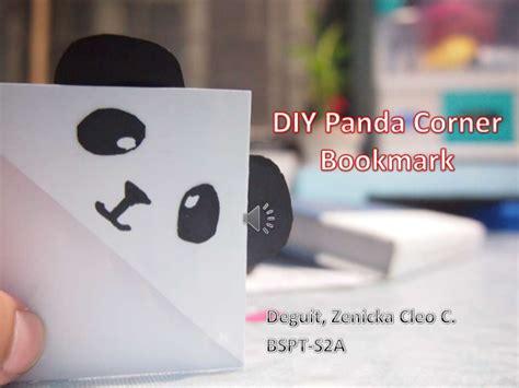 diy panda corner bookmark